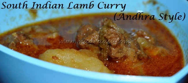 South Indian Lamb Curry - Andhra Style