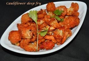 Cauliflower deep fry