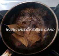 Flovoured spices getting fried in ghee