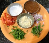 Fresh ingredients with coconut paste, masala paste and onion paste