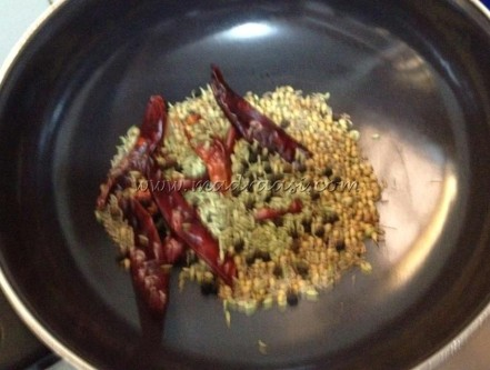 Dry roasting spices