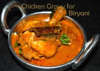 Perfect chicken gravy for biryani