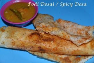 Podi Dosai / Spicy Gunpowder Dosa