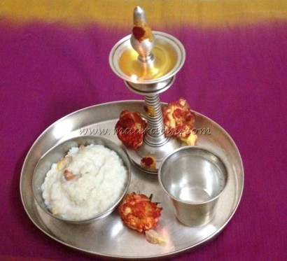 Sugar candy rice offered for puja in our home.