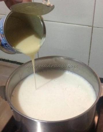 Milk with condensed milk