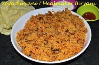 Soya Biryani / Mealmaker Biryani