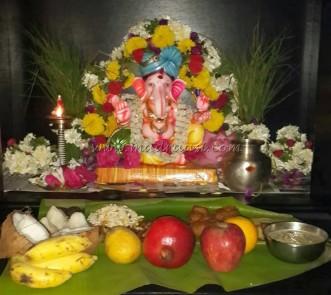 Vinayakar Chaturthi celebration at our home