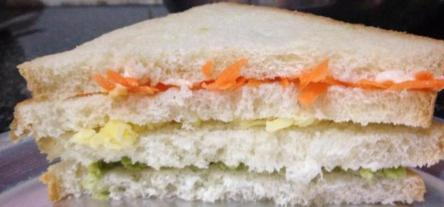 Sandwich before baking