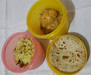 Coconut milk rice, Shahi Egg curry and Chapathi