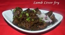 Lamb liver fry