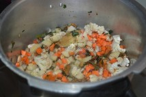 veggies getting cooked