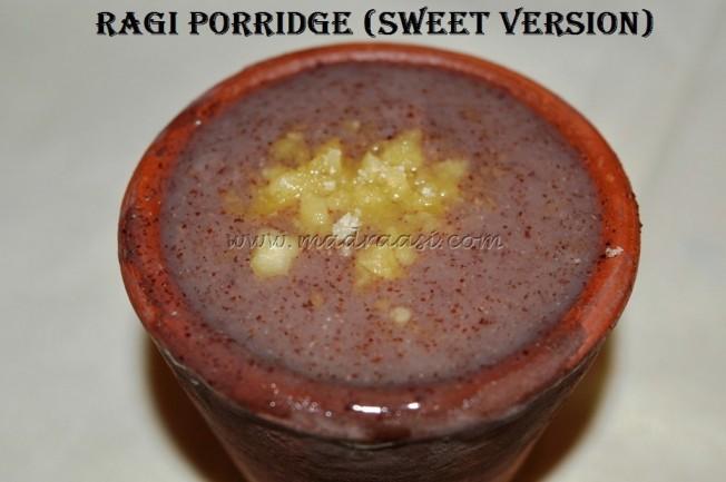 Ragi Porridge (Sweet Version)