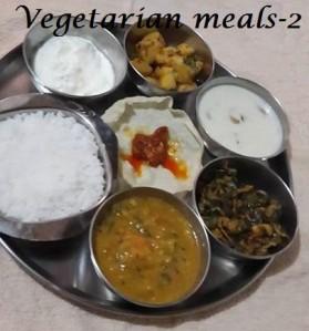 Vegetarian meals - 2