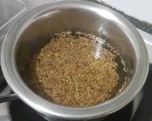 Omam/Carom seeds boiling in water