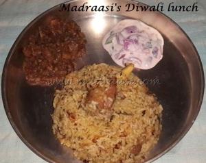 Madraasi Diwali lunch