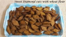 Sweet Diamond cuts with wheat flour