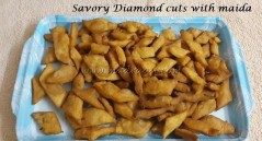 Savory Diamond cuts with Maida