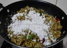 Mung bean with grated coconut