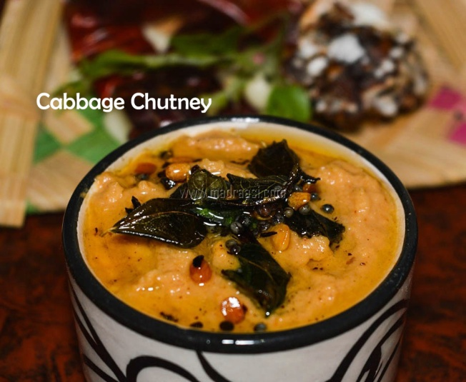 Cabbage Chutney, cabbage chutney recipe, cabbage recipe, chutney recipe,Mutta Khos Chuntey recipe, mutta khos recipe, khos recipe, khos chutney, Chutney recipe, vegetarian chutney recipe, madraasi, immadraasi, tamil recipe, tamil nadu food, tamil nadu chutney recipe, tamil chutney recipe, Indian chutney recipe, Indian food, Indian recipe, mutta khos chutney seimurai, cabbage chutney images, cabbage chutney picture