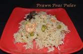Prawn green peas pulav