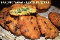 Paruppu vadai / Masala Vadai / Lentil Fritters