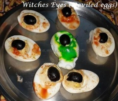 Witches Eye (Deviled eggs)