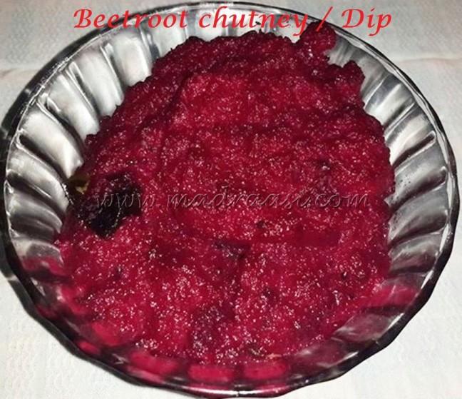 Beetroot chutney / Dip
