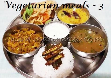 Vegetarian meals - 3