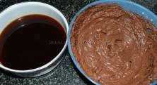 Cream mixture and coffee dicoction
