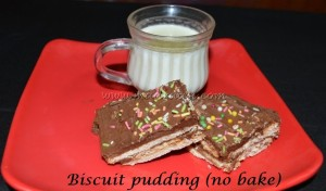 Biscuit pudding with  milk