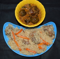 I have served this pilaf with Indian Brinjal masala