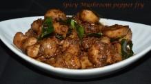 Spicy Mushroom pepper fry