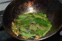 Tempering - cumin seeds, black peppercorns and curry leaves