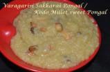 Varagarisi Sakkari Pongal / Kodo Millet sweet Pongal
