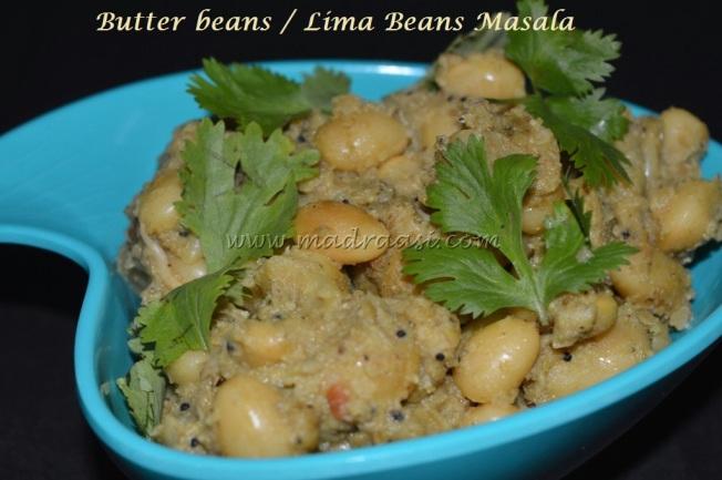 Butter beans / Lima beans Masala