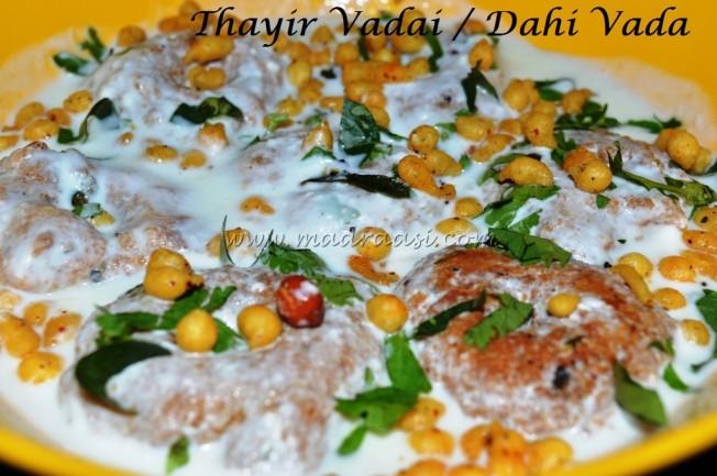 Thayir Vadai / Dahi Vada