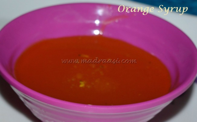 Orange Syrup