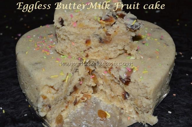 Eggless ButterMilk Fruit Cake
