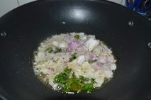 With onions and curry leaves