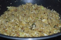 Cabbage getting cooked