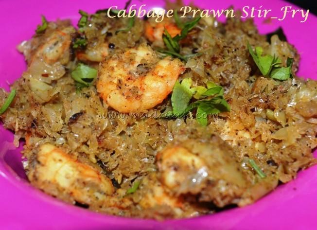 Cabbage Prawn Stir-Fry