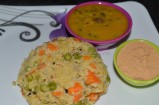 Kodo Millet Kichadi / Varagarisi Kichadi with Sambar and Chutney