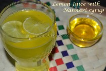 Lemon Juice with Nannari Syrup