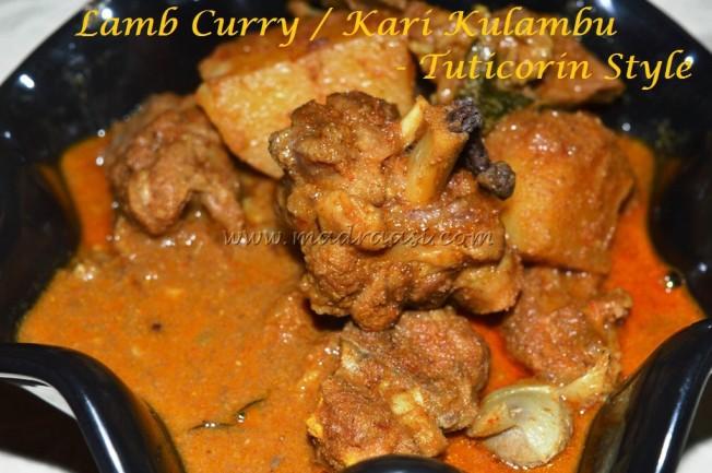 Lamb Curry / Kari Kulambu - Tuticorin Style