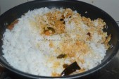 With boiled rice