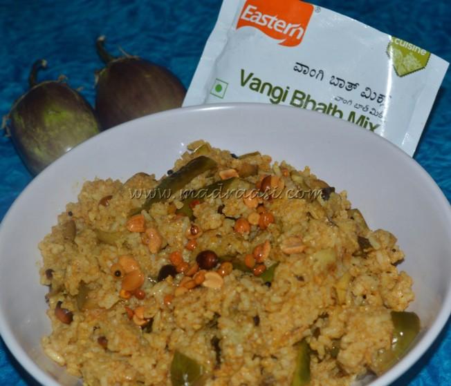 Vangi Bhath with Eastern Condiments