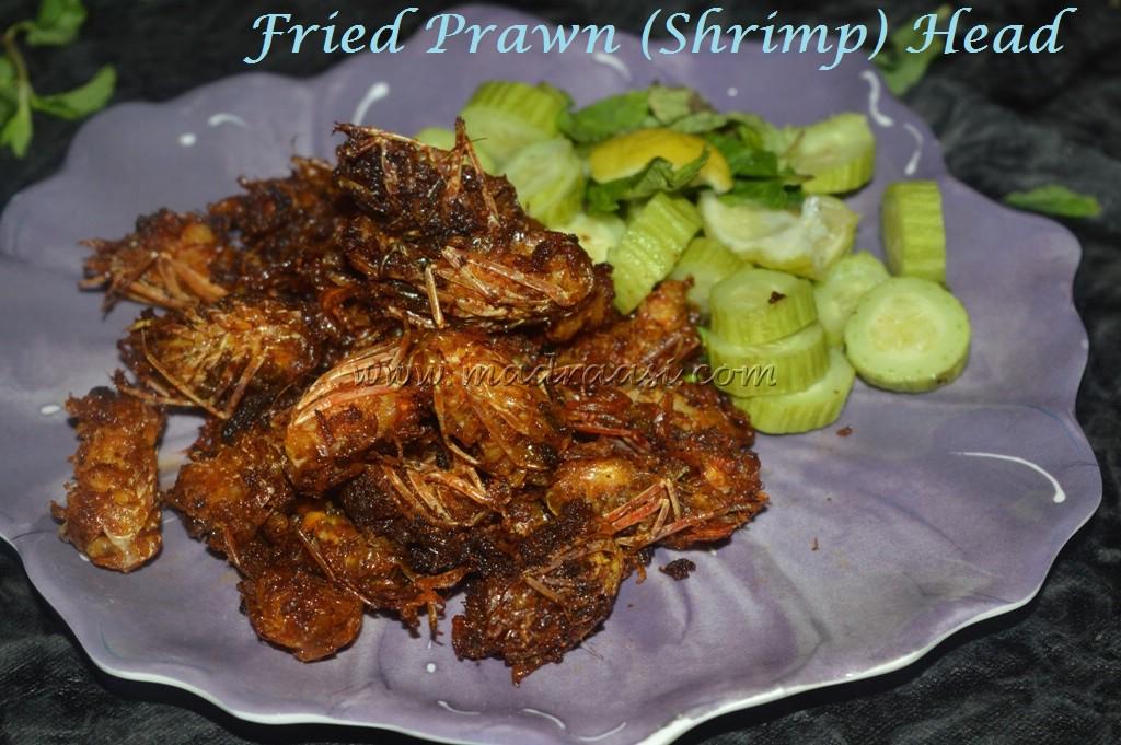 how to eat deep fried shrimp heads