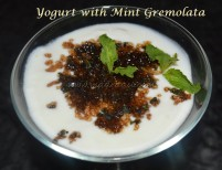 Yogurt with Mint Gremolata