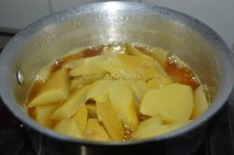 Mangoes in jaggery syrup