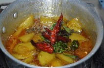 Mango Pachadi withtempered spices